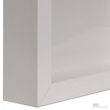 29mm Slim White Photo Box Frame