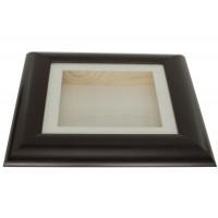 37mm Swept Brown Shadow Box Frame